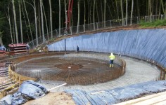 Betonierung Betonplatte