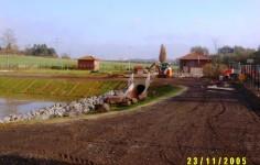Einlaufstrecke Zum Bodenfilterbecken