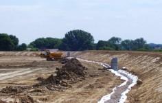Herstellung Eines Drainagegrabens Im Spuelpolder 1