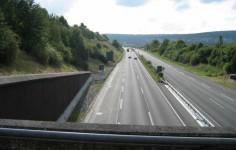 Einschnittslage Der Autobahn Ansicht Vom Tunnel