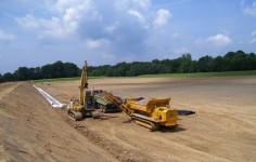 Herstellung Eines Drainagegrabens Im Spuelpolder 2