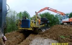 Maschinelle Verlegung Einer Drainageleitung